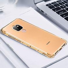 Custodia Silicone Trasparente Ultra Sottile Cover Morbida S02 per Huawei Mate 20 Oro