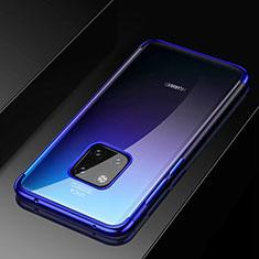 Custodia Silicone Trasparente Ultra Sottile Cover Morbida S02 per Huawei Mate 20 Pro Blu