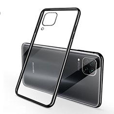Custodia Silicone Trasparente Ultra Sottile Cover Morbida S02 per Huawei Nova 6 SE Nero