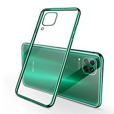 Custodia Silicone Trasparente Ultra Sottile Cover Morbida S02 per Huawei P40 Lite Verde