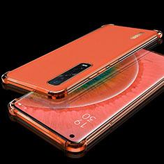 Custodia Silicone Trasparente Ultra Sottile Cover Morbida S02 per Oppo Find X2 Pro Rosso