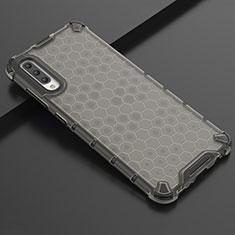 Custodia Silicone Trasparente Ultra Sottile Cover Morbida S02 per Samsung Galaxy A70 Nero