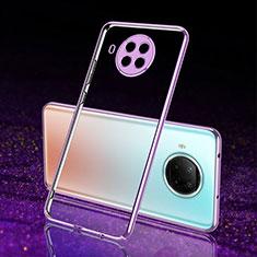 Custodia Silicone Trasparente Ultra Sottile Cover Morbida S02 per Xiaomi Mi 10T Lite 5G Viola
