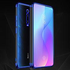 Custodia Silicone Trasparente Ultra Sottile Cover Morbida S02 per Xiaomi Mi 9T Blu