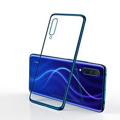 Custodia Silicone Trasparente Ultra Sottile Cover Morbida S02 per Xiaomi Mi A3 Blu