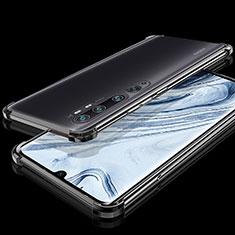 Custodia Silicone Trasparente Ultra Sottile Cover Morbida S02 per Xiaomi Mi Note 10 Nero