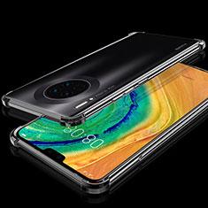 Custodia Silicone Trasparente Ultra Sottile Cover Morbida S03 per Huawei Mate 30 Nero