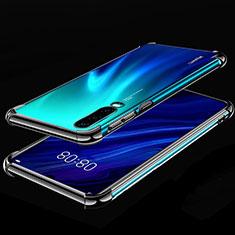 Custodia Silicone Trasparente Ultra Sottile Cover Morbida S03 per Huawei P30 Nero