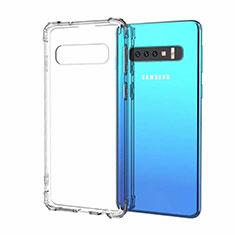 Custodia Silicone Trasparente Ultra Sottile Cover Morbida S03 per Samsung Galaxy S10 Chiaro