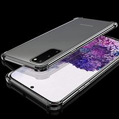 Custodia Silicone Trasparente Ultra Sottile Cover Morbida S03 per Samsung Galaxy S20 5G Nero