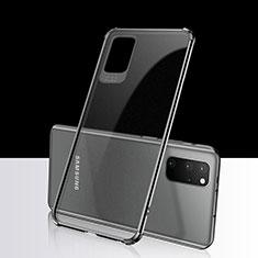 Custodia Silicone Trasparente Ultra Sottile Cover Morbida S03 per Samsung Galaxy S20 Plus Nero