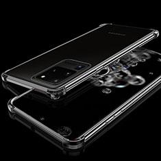 Custodia Silicone Trasparente Ultra Sottile Cover Morbida S03 per Samsung Galaxy S20 Ultra Nero