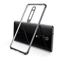 Custodia Silicone Trasparente Ultra Sottile Cover Morbida S03 per Xiaomi Mi 9T Nero