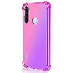 Custodia Silicone Trasparente Ultra Sottile Cover Morbida S03 per Xiaomi Redmi Note 8 Rosa Caldo