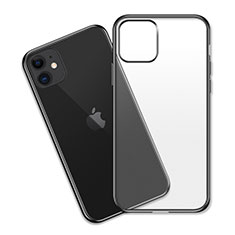 Custodia Silicone Trasparente Ultra Sottile Cover Morbida S04 per Apple iPhone 11 Nero