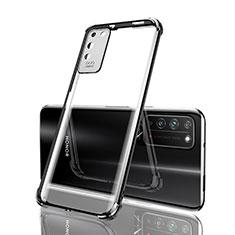 Custodia Silicone Trasparente Ultra Sottile Cover Morbida S04 per Huawei Honor X10 5G Nero