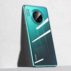 Custodia Silicone Trasparente Ultra Sottile Cover Morbida S04 per Huawei Mate 30 Verde