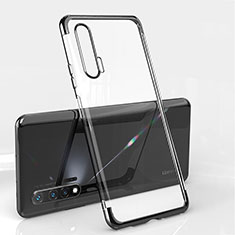 Custodia Silicone Trasparente Ultra Sottile Cover Morbida S04 per Huawei Nova 6 5G Nero