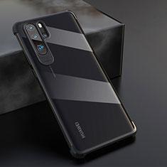 Custodia Silicone Trasparente Ultra Sottile Cover Morbida S04 per Huawei P30 Pro Nero