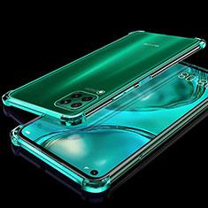 Custodia Silicone Trasparente Ultra Sottile Cover Morbida S04 per Huawei P40 Lite Verde