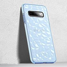 Custodia Silicone Trasparente Ultra Sottile Cover Morbida S04 per Samsung Galaxy S10 Nero