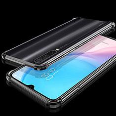 Custodia Silicone Trasparente Ultra Sottile Cover Morbida S04 per Xiaomi Mi A3 Nero