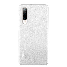 Custodia Silicone Trasparente Ultra Sottile Cover Morbida S05 per Huawei P30 Bianco