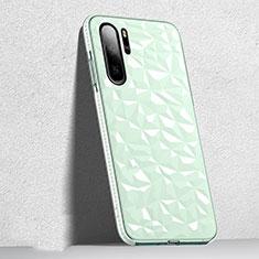 Custodia Silicone Trasparente Ultra Sottile Cover Morbida S05 per Huawei P30 Pro Verde