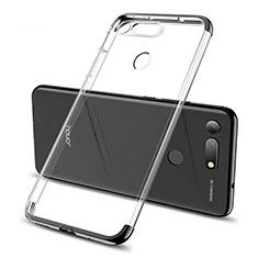 Custodia Silicone Trasparente Ultra Sottile Cover Morbida S06 per Huawei Honor V20 Nero