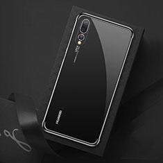 Custodia Silicone Trasparente Ultra Sottile Cover Morbida S07 per Huawei P20 Pro Nero