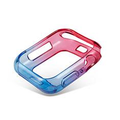 Custodia Silicone Trasparente Ultra Sottile Cover Morbida Sfumato G01 per Apple iWatch 5 44mm Cielo Blu