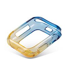 Custodia Silicone Trasparente Ultra Sottile Cover Morbida Sfumato G01 per Apple iWatch 5 44mm Giallo
