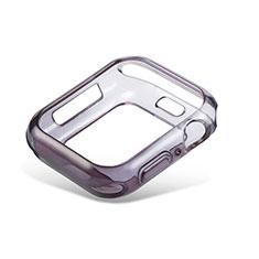 Custodia Silicone Trasparente Ultra Sottile Cover Morbida Sfumato G01 per Apple iWatch 5 44mm Nero