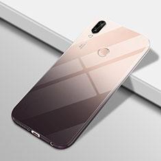 Custodia Silicone Trasparente Ultra Sottile Cover Morbida Sfumato G01 per Huawei Nova 3e Nero