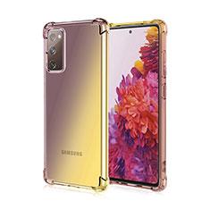 Custodia Silicone Trasparente Ultra Sottile Cover Morbida Sfumato G01 per Samsung Galaxy S20 FE 5G Marrone