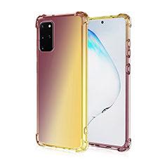 Custodia Silicone Trasparente Ultra Sottile Cover Morbida Sfumato G01 per Samsung Galaxy S20 Plus 5G Marrone