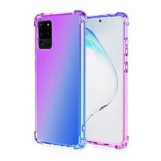 Custodia Silicone Trasparente Ultra Sottile Cover Morbida Sfumato G01 per Samsung Galaxy S20 Ultra Viola