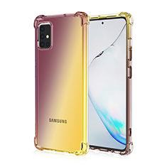 Custodia Silicone Trasparente Ultra Sottile Cover Morbida Sfumato per Samsung Galaxy A51 4G Marrone