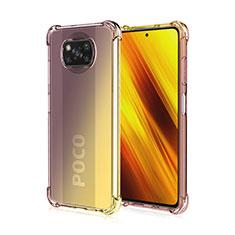 Custodia Silicone Trasparente Ultra Sottile Cover Morbida Sfumato per Xiaomi Poco X3 NFC Marrone