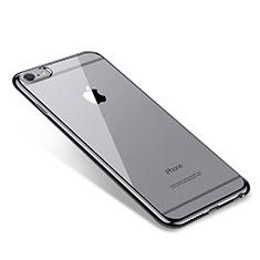 Custodia Silicone Trasparente Ultra Sottile Cover Morbida T09 per Apple iPhone 6S Plus Nero