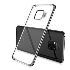 Custodia Silicone Trasparente Ultra Sottile Cover Morbida U02 per Huawei Mate 20 Pro Nero