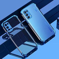 Custodia Silicone Trasparente Ultra Sottile Cover Morbida Z01 per Oppo Reno5 5G Blu