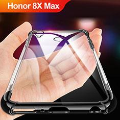 Custodia Silicone Trasparente Ultra Sottile Morbida A02 per Huawei Honor 8X Max Nero