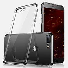 Custodia Silicone Trasparente Ultra Sottile Morbida A07 per Apple iPhone 7 Plus Nero