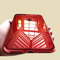 Custodia Silicone Trasparente Ultra Sottile Morbida A09 per Apple iPhone 8 Plus Chiaro