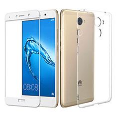Custodia Silicone Trasparente Ultra Sottile Morbida con Pellicola Protettiva per Huawei Enjoy 7 Plus Chiaro