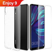 Custodia Silicone Trasparente Ultra Sottile Morbida con Pellicola Protettiva per Huawei Enjoy 9 Chiaro