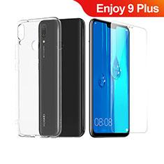 Custodia Silicone Trasparente Ultra Sottile Morbida con Pellicola Protettiva per Huawei Enjoy 9 Plus Chiaro