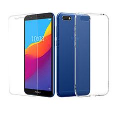 Custodia Silicone Trasparente Ultra Sottile Morbida con Pellicola Protettiva per Huawei Honor 7S Chiaro