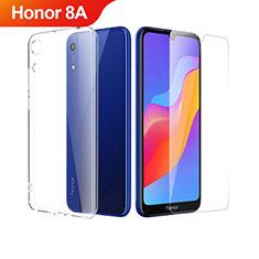 Custodia Silicone Trasparente Ultra Sottile Morbida con Pellicola Protettiva per Huawei Honor 8A Chiaro